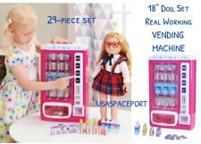 """18"""" Doll Real Working Drink VENDING MACHINE Set for My Life as American Girl Boy"""