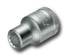 """Gedore 6136220 Socket A/f 1/2 """"bi-hexagon Ud perfil Tamaño 3/8"""