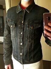 Nudie Jeans Men's Perry Denim Jacket 'black on blue' Size Large
