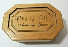 P. Graham Dunn Wood Music Box Amazing Grace Song        DCA