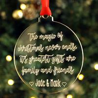 Personalised Magic Christmas Family Friends Bauble Decoration Keepsake Tree Gift
