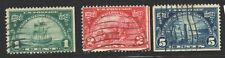 USA 1924  SCOTT #614/16 USED COMPLETE SET HUGUENOT-WALLOON CV $19
