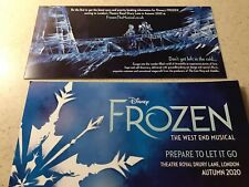 2x Disney  FROZEN The West End Musical Theatre Royal Drury Lane 2020 Promo Flyer