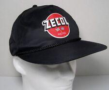 Vintage ZECOL RACING SnapBack TRUCKER HAT Black Checkered Flags-NWOT