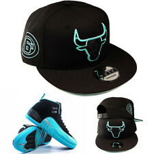 New Era Chicago Bulls Snapback Hat Matches air Jordan 12 Retro Black Mint Green