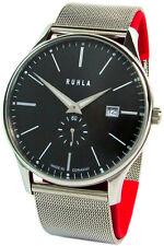 Ruhla Classic made in Germany reloj hombre de acero inoxidable milanaise banda pequeños segundo