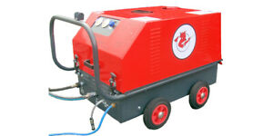 Hot and cold water pressure washer, British built