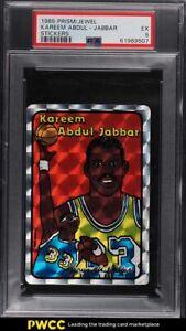 1985 Prism Jewel Stickers Basketball Kareem Abdul-Jabbar PSA 5 EX