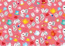 background effect A4 cake icing sheet print wallpaper Mad Hatter Tea Party ND1