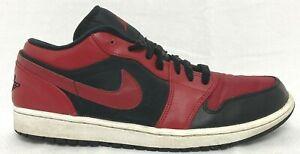 Nike Air Jordan 1 Retro Low Bred 553558 001 Size 10.5 / EUR 44.5 Black/Gym Red