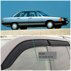 AE13182 Window Visors Guard Vent Wide Deflectors For Audi 100 Sd (C3) 1982-1990