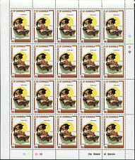 4 Full Sheets of 20 Dominica Republic Stamps 754-757 Cat Value Golden Days