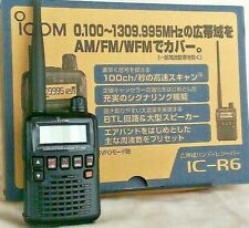 ICOM IC-R6 Wide Band 0.100-1309.995MHz UNBLOCKED Communication Handy Receiver