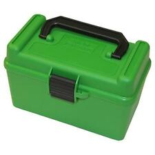 Mtm Deluxe Ammo Box 50 Round Handle 7Mm Rem Mag 300 Win Mag Green H50Rmag10