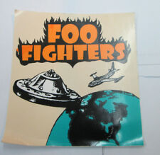 FOO FIGHTERS STICKER COLLECTIBLE RARE VINTAGE 90'S METAL LIVE WINDOW DECAL