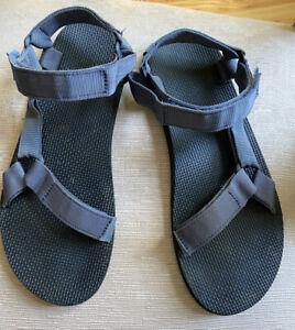 Mens Blue Nylon Teva Sandals Size 12