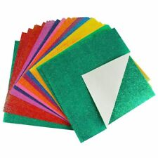 50x Glitter Paper Sparkling Shiny Lucky Colorful Origami