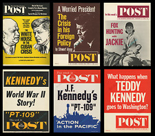 RARE 1960s JFK ADVERTISING POSTER COLLECTION ☆ JACKIE & TEDDY KENNEDY PIECES TOO