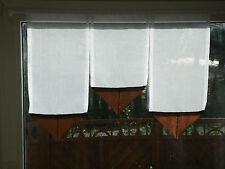 Scheibengardine Fenster 70cm L:50,40, Scheibengardinen Braun/Mocca kurz Gardine