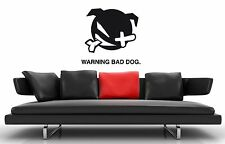 Wall Stickers Vinyl Decal Warning Bad Dog Guard Pet Animals ig1681