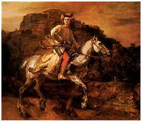 The Polish Rider, c. 1655, Rembrandt - Great Horse Art