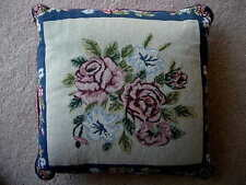 Beautiful Collectible Roses Tapestry Fabric Decorative Sofa / Bed Pillow - NEW
