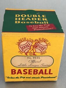 LITTLE LEAGUE SENIOR DOUBLE HEADER UNOPENED BASEBALL BOX No. 95SL