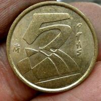 Moneda - Juan Carlos 1º. 5 Pesetas año 2000( envio certificado)