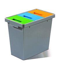 Mattiussi Ecologia Polymax Mini Sistema Modulare, Plastica, Grigio Scuro, (N8p)