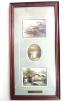 Collector Cottages by Thomas Kinkade 3 Cottage Scene Prints mounted w/COA