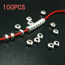 100pcs Tibetan Silver Round Spacer Beads DIY Manual Jewelry Making Accessories
