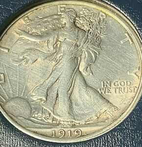 1919 P  Walking Liberty silver half dollar, high grade