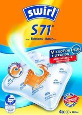 4 Staubsaugerbeutel Swirl geeignet für Swirl  S 71