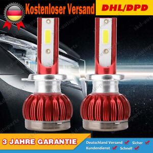 2x H7 LED Scheinwerfer CSP 6000K Für Audi BMW VW Mercedes-Benz Opel DHL