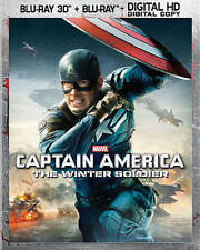 Captain America: The Winter Soldier (Blu-ray Disc, 2014, Includes Digital Copy 2