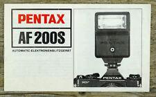 ASAHI PENTAX Bedienungsanleitung Blitzgerät AF 200S User Manual Anleitung (X8036
