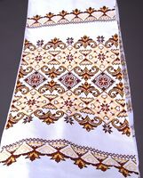 200x33 cm Ukraine RUSHNYK Hand Cross-Stitch Embroidery Rustic WEDDING Towel