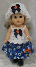 """Made to fit 8"""" GINNY Vogue  #84 Top, Hat, Skirt & Purse,  Handmade doll clothes"""