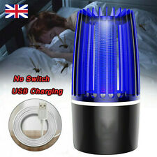 More details for usb plug-in electric mosquito killer light fly bug insects trap zapper lamp uk
