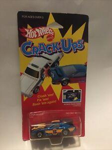 Hot Wheels CRACK UPS Blackwall SUPER DENTER Blue #2556 NIP BLISTER VERY RARE HTF