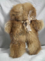 VINTAGE RECYCLED MINK HAND CRAFTED TEDDY BEAR OOAK