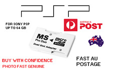 Dual Micro Sd To PSP ms pro duo adapter Up To 64 GB psp sd card SONY PSP SD CFW
