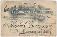 19th Century French Bead, Novelties & Funeral Wreath Manufacturer Trade Card