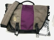 "Timbuk2 Tan & Purple Messenger Bag 17"" Laptop Sleeve with cross body strap"