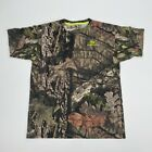 Mossy Oak All Over Print Camo Hunting Shirt Size Extra Large XL Short Sleeve Men