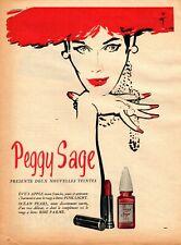 Original French Vintage Ad - PEGGY SAGE Varnish Pink Light René GRUAU - 1955