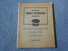 1945 FORD TRACTOR FERGUSON SYSTEM OWNERS PRODUCT INFORMATION MANUAL ORIGINAL OEM