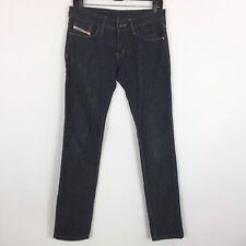 Diesel Jeans Women's Size 29 Dark Wash Slim Straight Leg Mid Rise 100% Cotton