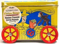 Curious George Circus Peanuts Tin Collectible Wagon Coin Bank Brand New