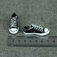 1/6 Scale Black Rubber Canvas Shoes Sneakers for 12inch Female Action Figure